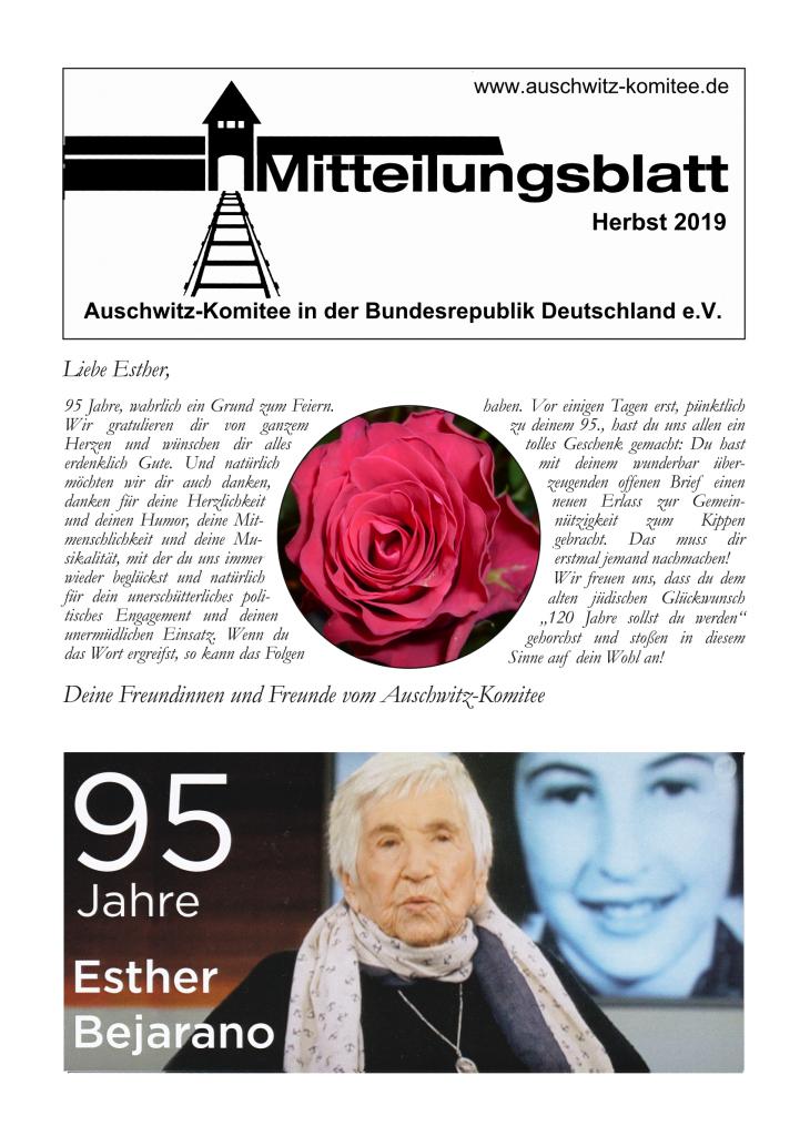 Mitteilungsblatt Herbst 2019